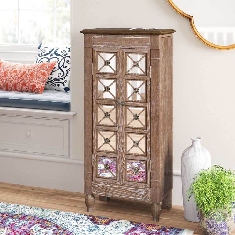 f9fc0885e Bungalow Rose Schulenburg Free Standing Jewelry Armoire with Mirror &  Reviews | Wayfair