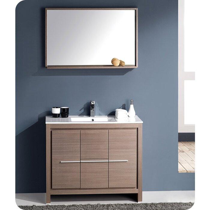 Fresca Allier 40 Single Bathroom Vanity Set With Mirror Reviews