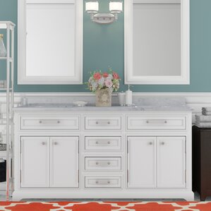 double sink vanity white. Colchester 60  Double Bathroom Vanity Set Vanities You ll Love Wayfair