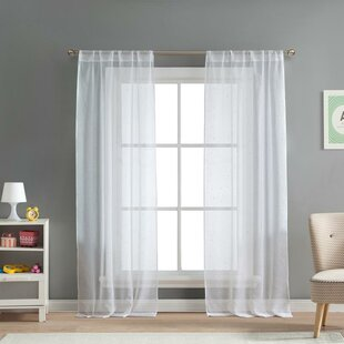 Dariell Solid Semi Sheer Thermal Rod Pocket Curtain Panels Set Of 2