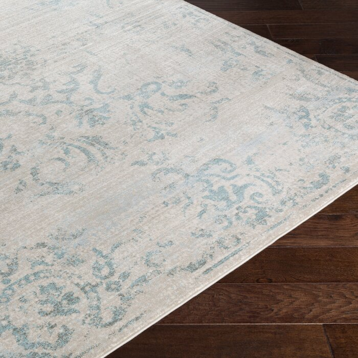 Cary Blue White Area Rug