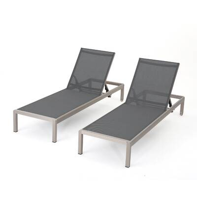 Lacon Mesh Chaise Lounge Set Of 2