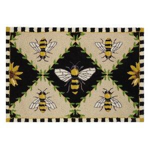 Bumblebee Black/Beige Area Rug
