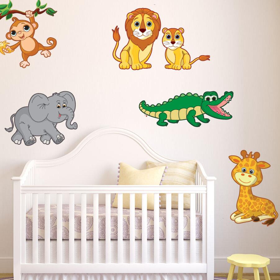 Style And Apply Colorful Safari Animal Wall Decal Wayfair