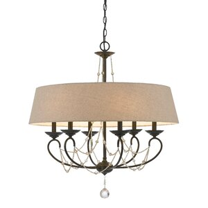 Jamaca 6-Light Drum Chandelier