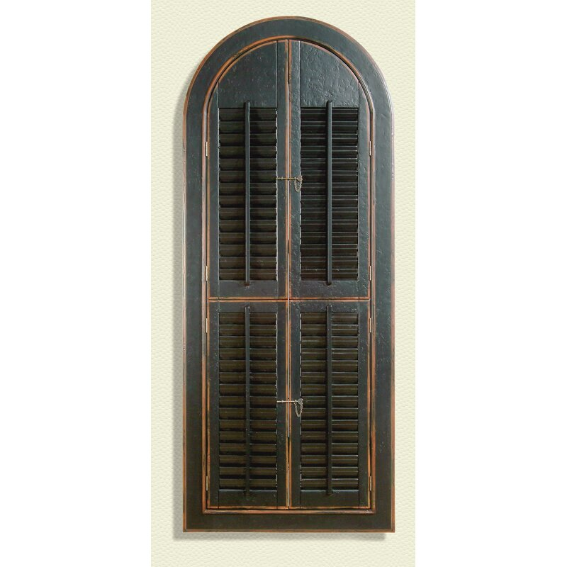 World Menagerie Arched Antique Black Shutter Mirror Reviews Wayfair
