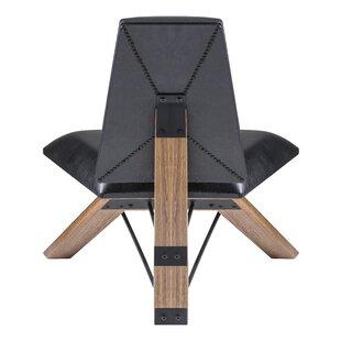 Merveilleux Hahn Slipper Chair In Black PU Leather