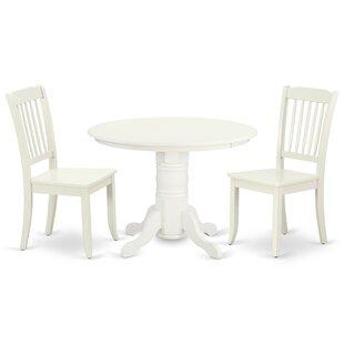 Kopf 3 Piece Solid Wood Dining Set
