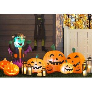 halloween inflatable orange pumpkins decoration - Inflatable Halloween Yard Decorations