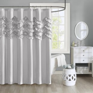 Avrah Ruffle Microfiber Shower Curtain