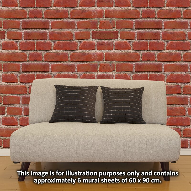Flexiplus Vintage Brick Wall Decal