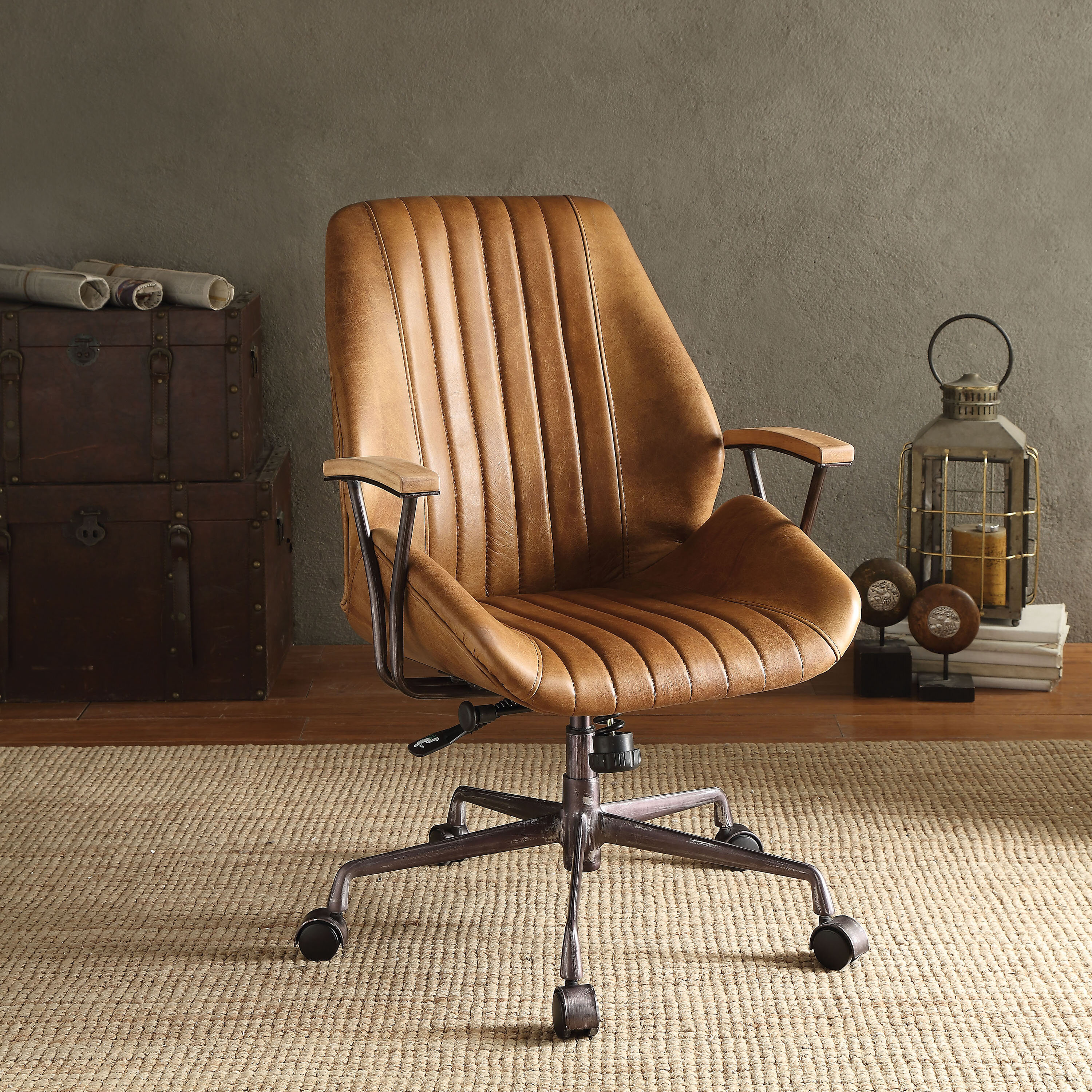 76790800ad9a Greyleigh Kirbyville Genuine Leather Task Chair   Reviews