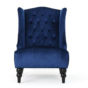 Potterslane High-Back New Velvet Club Chair