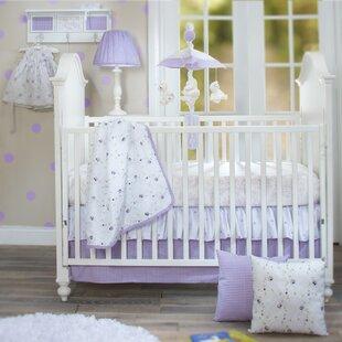 Beau Sweet Pea 3 Piece Crib Bedding Set