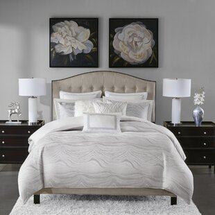 Elegant Hollywood Glam Jacquard Metallic Comforter Set