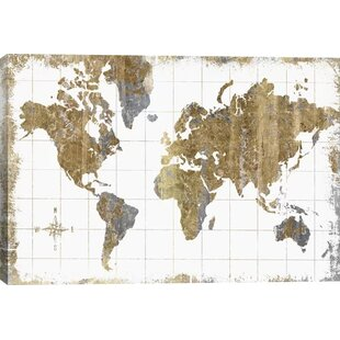 Modern contemporary world map allmodern gilded map graphic art print gumiabroncs Images