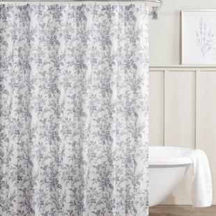 Annalise Floral Cotton Shower Curtain