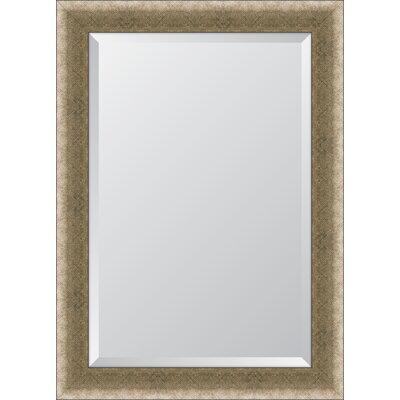 Majestic Mirror Tall Rectangular Silver Sleek Beveled Glass Framed