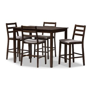 Hester Street 5 Piece Pub Table Set