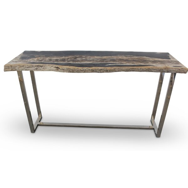 Gentil Union Rustic Plympton Raw Edge Console Table | Wayfair