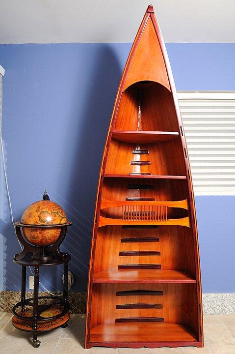 old modern handicrafts canoe standard bookcase wayfair
