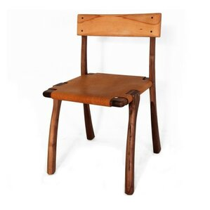 Mardin Genuine Leather Upholstered Dining Chair by Organic Modernism