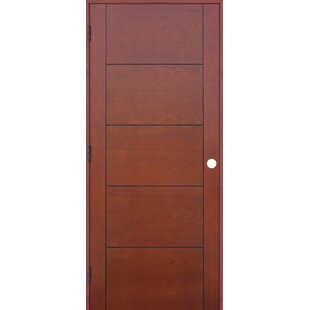 Contemporary 5 Panel Prefinished Hollow Flush Wood Interior Swinging Door