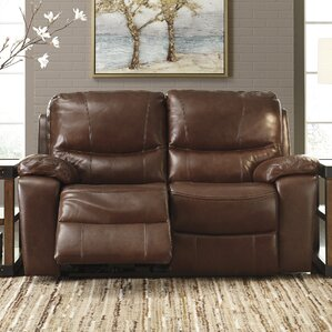 Boehme Leather Reclining Loveseat by Red Barrel Studio