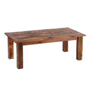 Reclaimed Barnwood Open Coffee Table with Barnwood Trim by Fireside Lodge