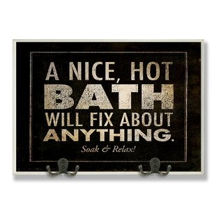 A Nice Hot Will Fix Anything Black Bathroom Textual Art Wall Plaque