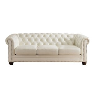 Nashville Leather Chesterfield Sofa by Amax