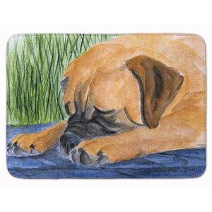 Bullmastiff Memory Foam Bath Rug