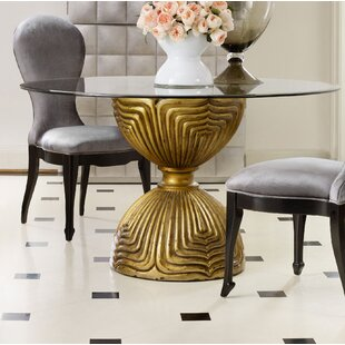 Mirrored kitchen dining tables youll love wayfair shangri la gilded dining table base watchthetrailerfo