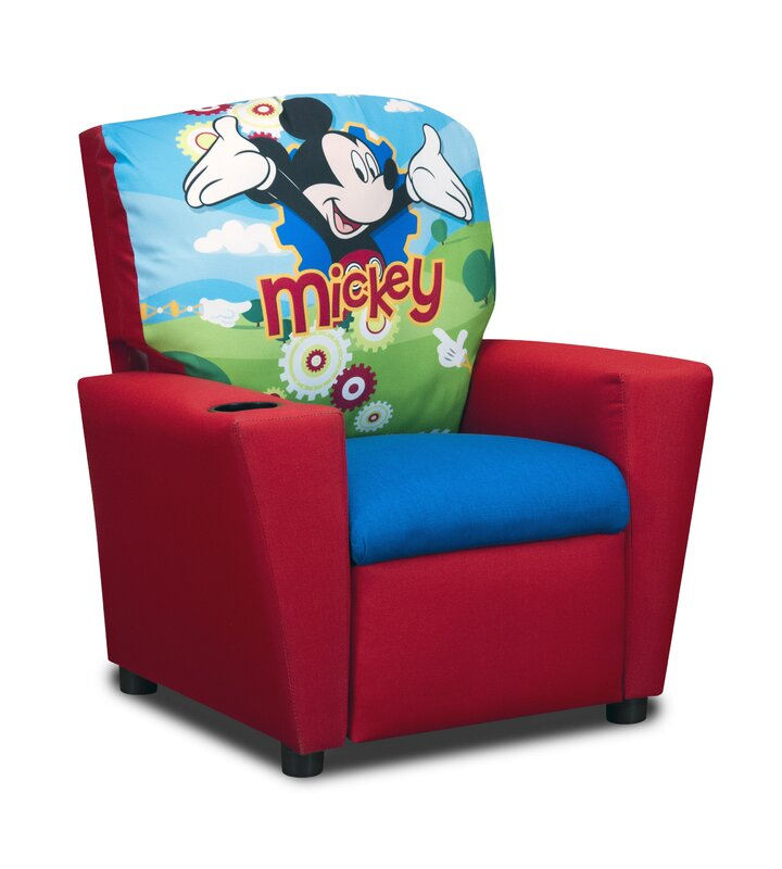 Disneys Mickey Mouse Clubhouse Kids Cotton Recliner Chair With Cup Holder