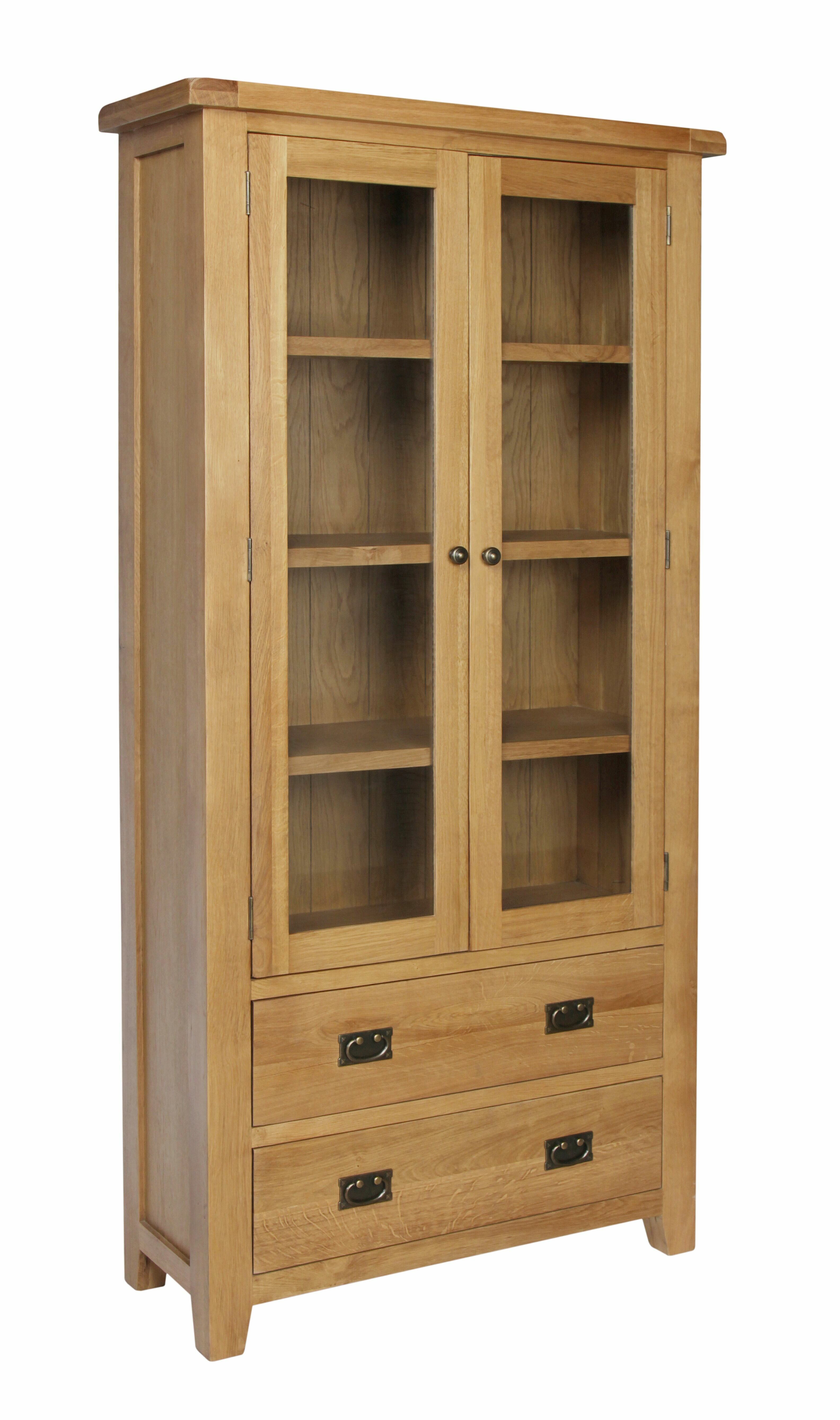 Homestead Living Inisraher Solid Oak Display Cabinet Reviews