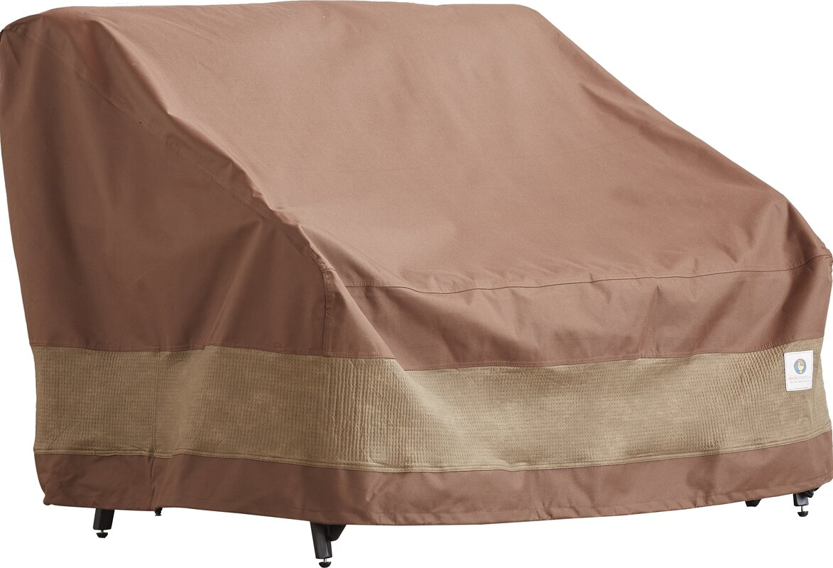 Marvelous Patio Loveseat Cover With Buckle Fastener