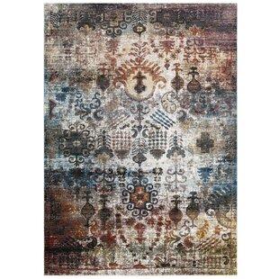 Lokey Tahira Transitional Distressed Vintage Fl Moroccan Trellis Gray Area Rug