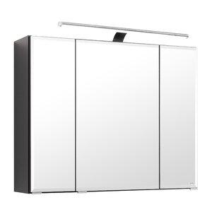 80 cm x 64 cm Spiegelschrank Modena mit LED-Bel..