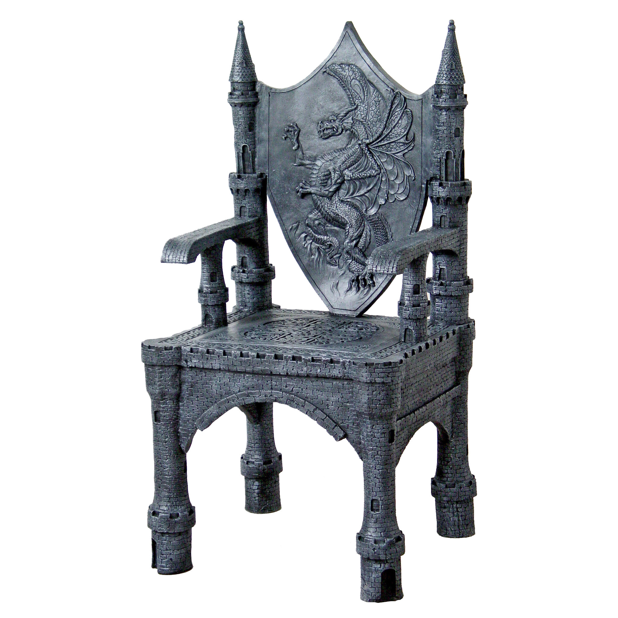 Design Toscano The Dragon of Upminster Castle Throne ...