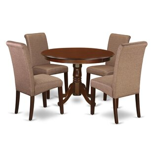 Morganna Table 5 Piece Solid Wood Dining Set Discount