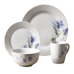 Kissane 16 Piece Dinnerware Set Service for 4  sc 1 st  Wayfair : dinnerware not made in china - pezcame.com