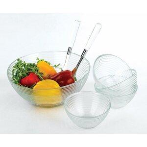 7 Piece Glass Salad Serving Set
