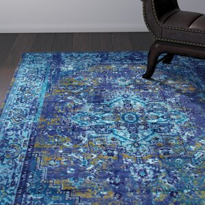 Tyrese Blue Area Rug
