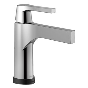 zura single handle centerset bathroom faucet with drain assembly