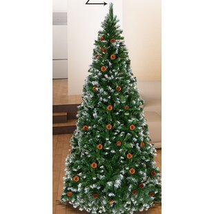 New Snow Tipped 7 5 Green Pine Artificial Christmas Tree