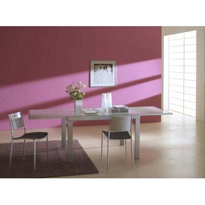 Bontempi Casa Sky Dining Table Shape: Square, Finish: Aluminum (Matte), Color: Sandblasted Glass