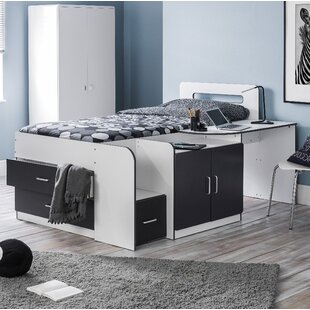 Bolatice Single Bunk Bed With Drawers Shelves Desk And Cabin Mattress