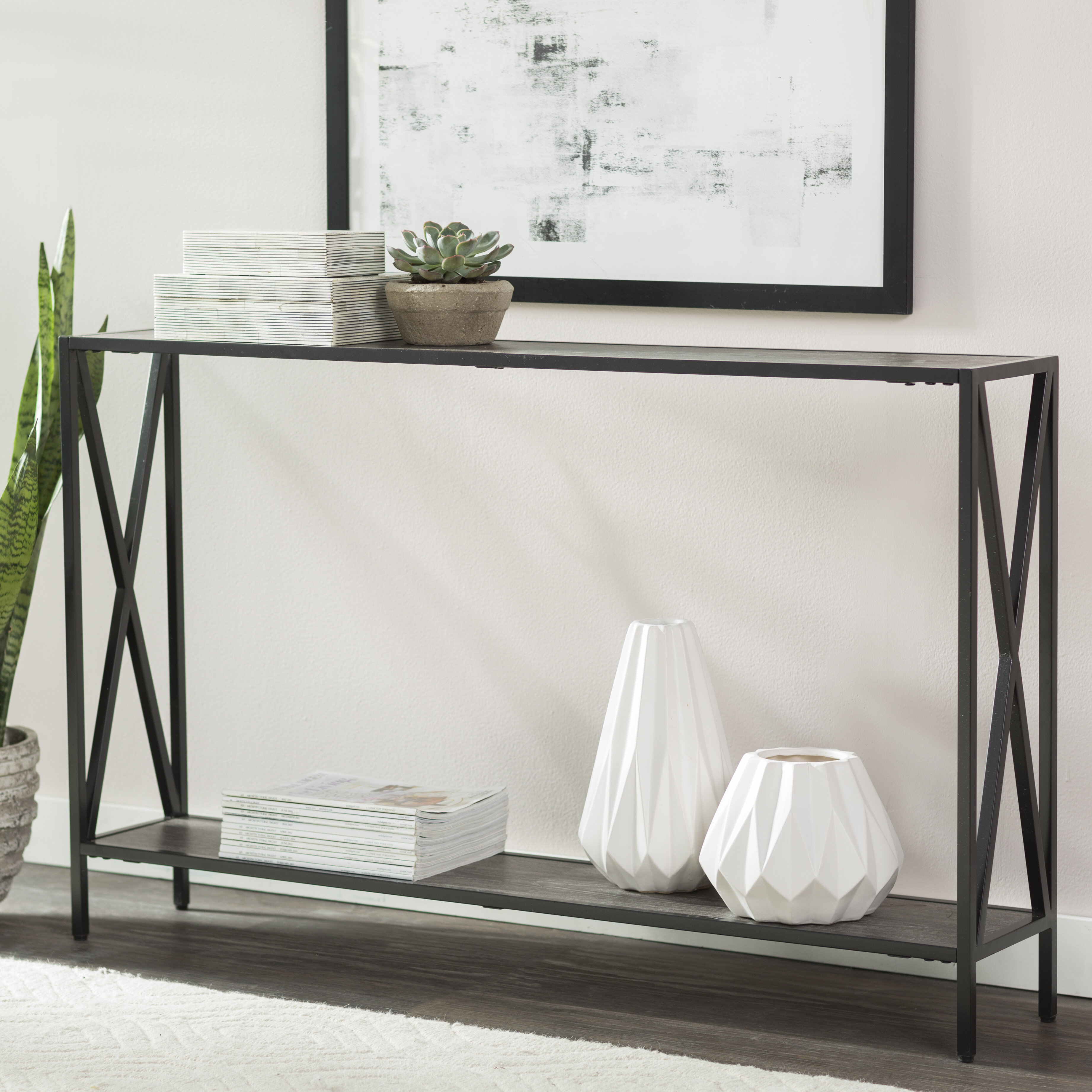 Andover Mills Abbottsmoor Metal Frame Console Table & Reviews | Wayfair