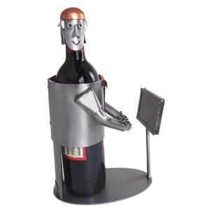 Video Gamer 1 Bottle Tabletop Wine Rack by H & K SCULPTURES