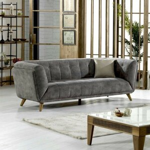 Danos Nubuck Chesterfield Loveseat by Brayden Studio